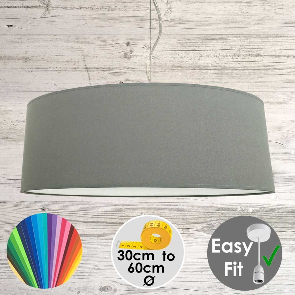 Grey Granite Drum Light Shade